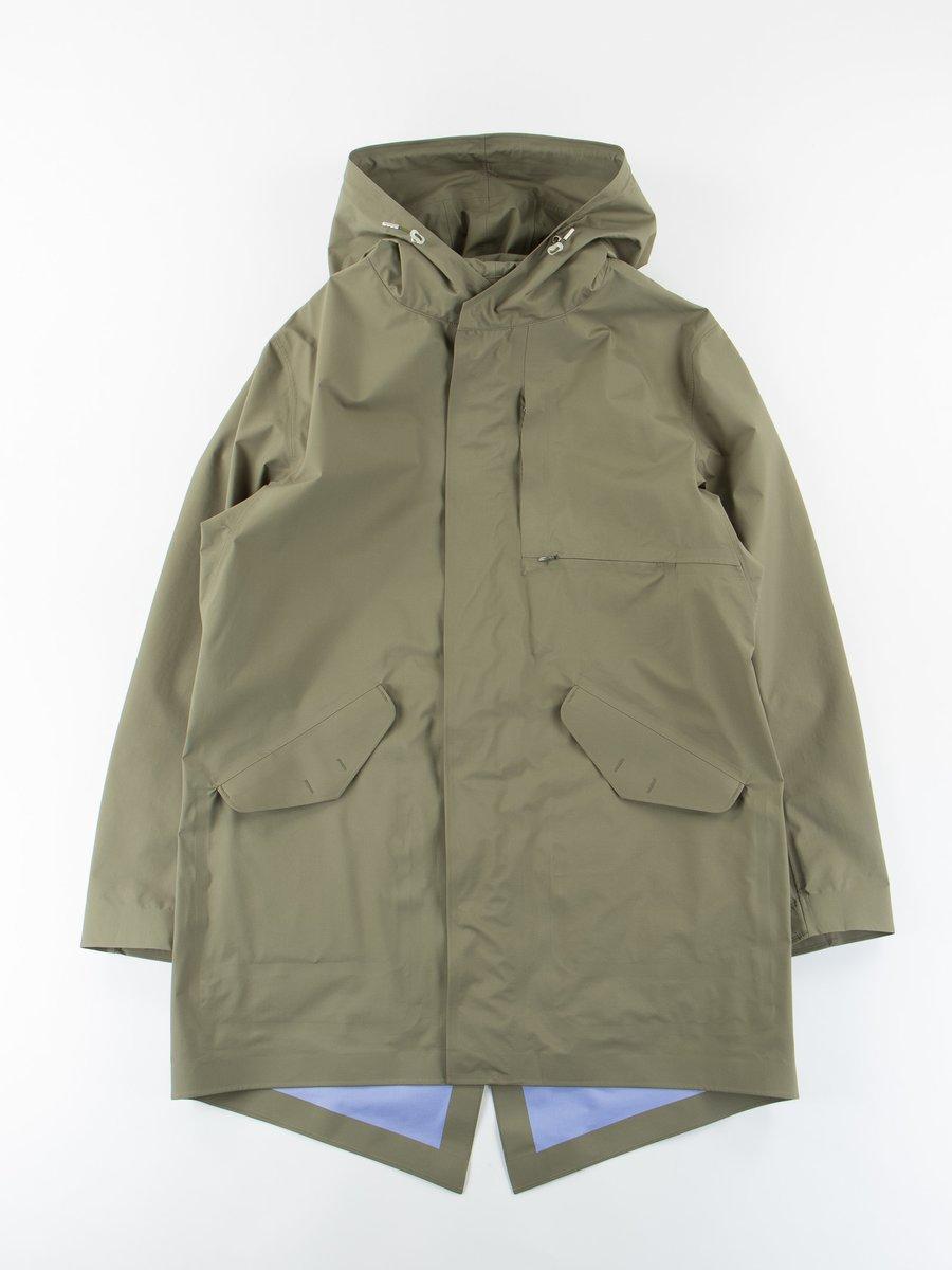 Khaki Gore–Tex Shell Coat
