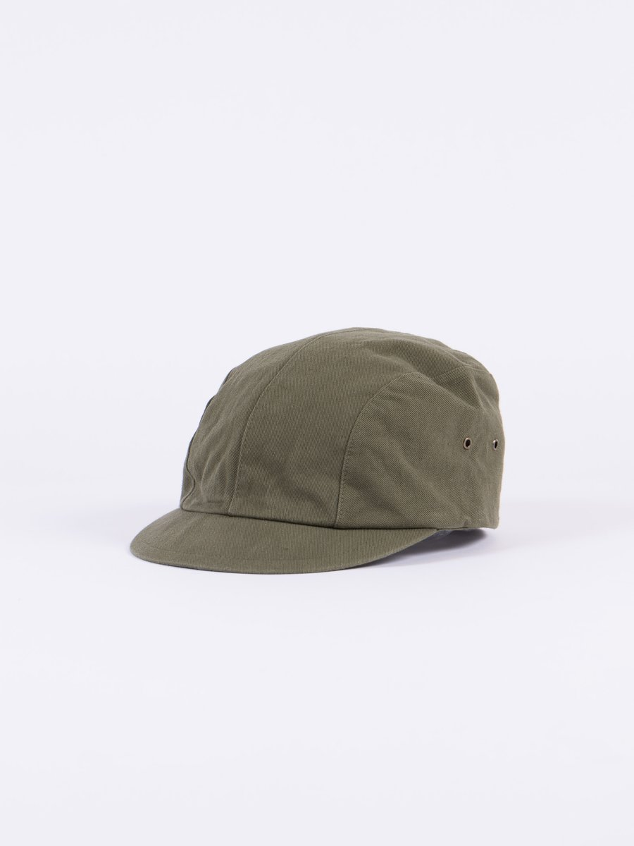Olive Selvage Chino Cloth Work Cap