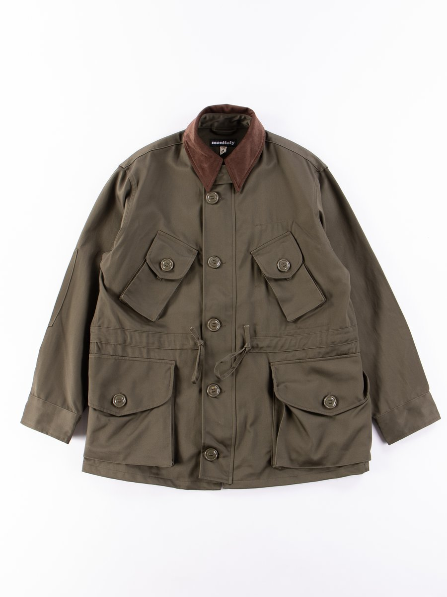 Olive Sateen Vancloth Military Half Coat Type B