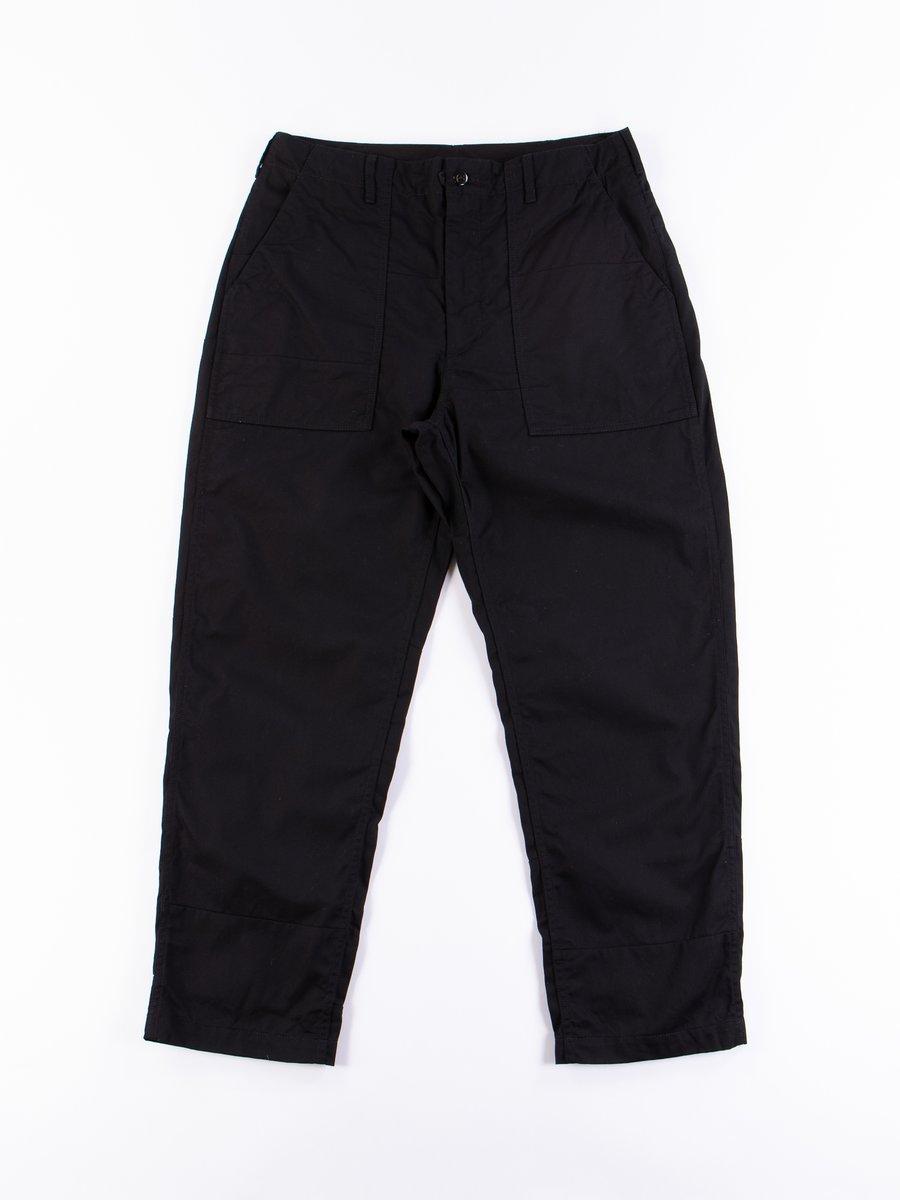 Black Solid 6.5oz Flat Twill Fatigue Pant