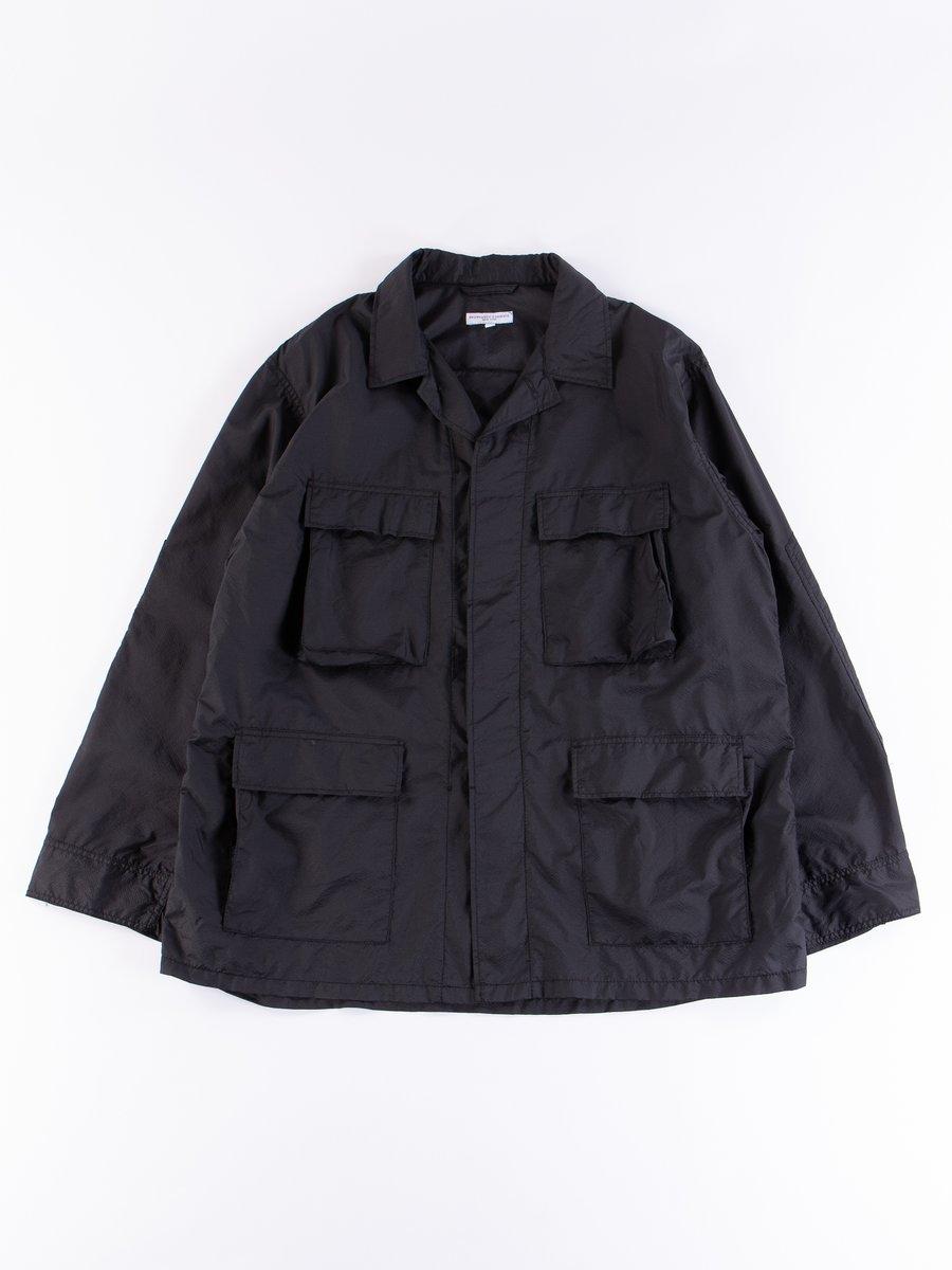 Black Nylon Micro Ripstop BDU Jacket