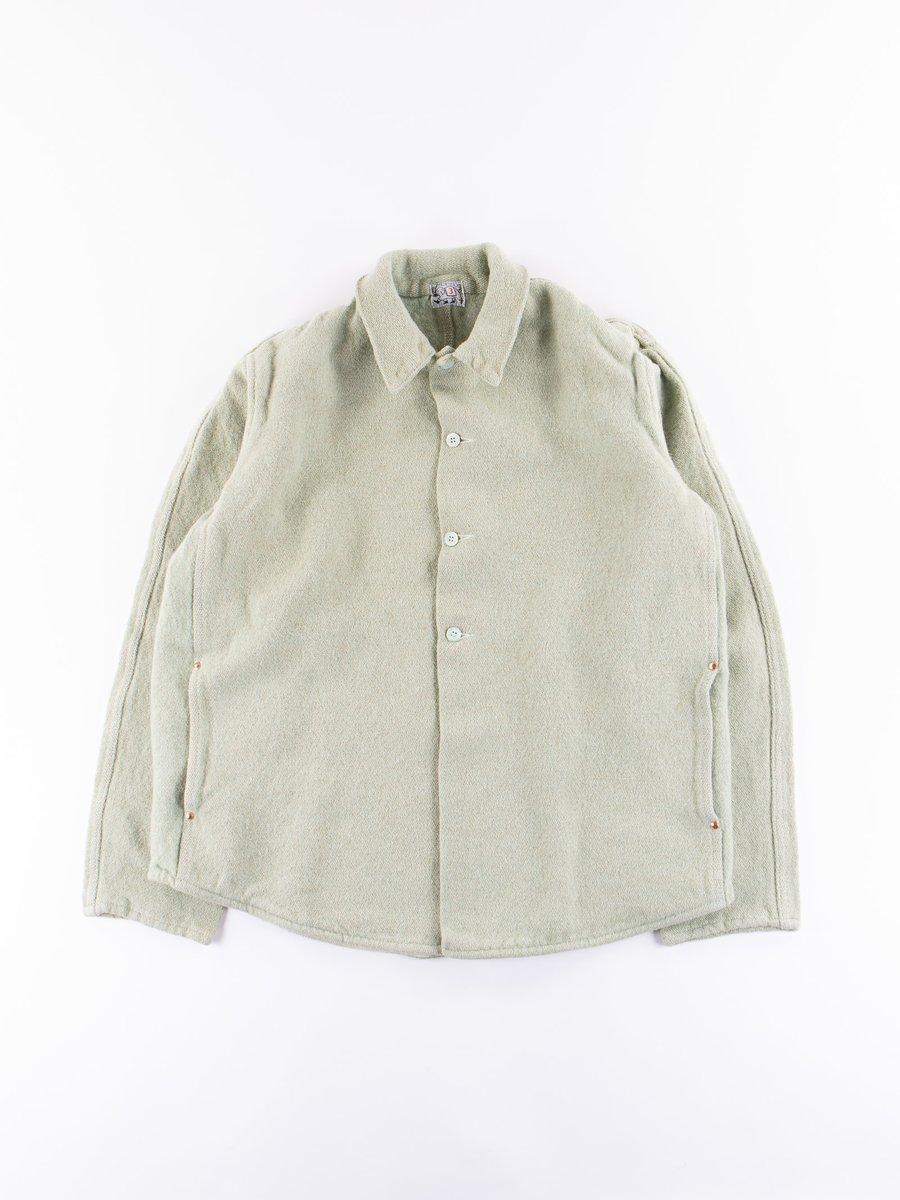 Verdigris Dye Jute Weft Double Front Butterfly Jacket