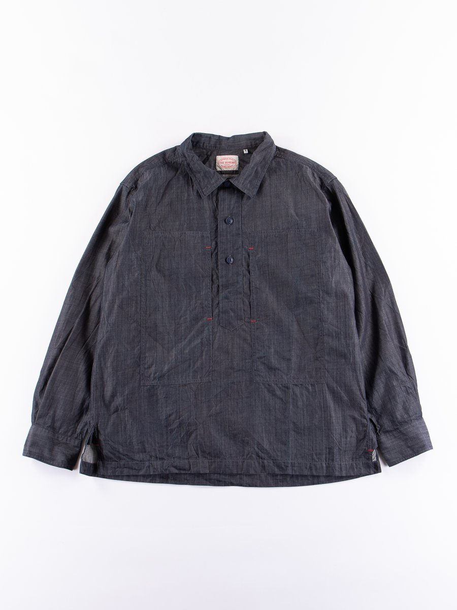 Indigo Lightweight Denim Popover Shirt