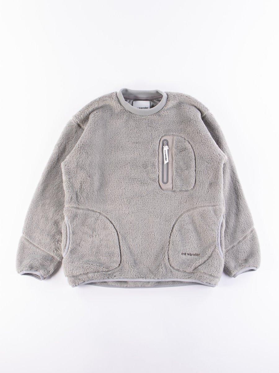 Grey High Loft Fleece Pullover