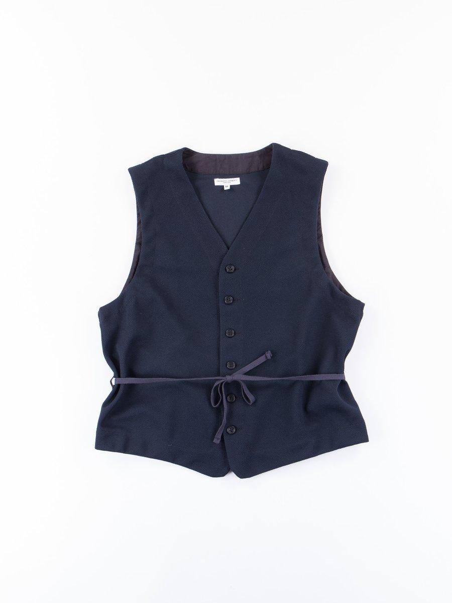 Dark Navy 7.75oz Diamond Knit Vest