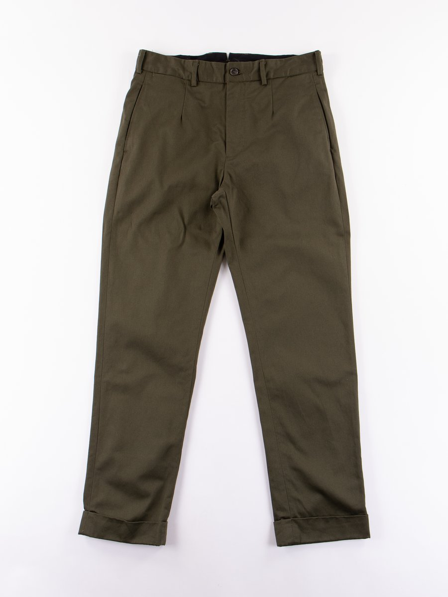 Olive Chino Twill Andover Pant
