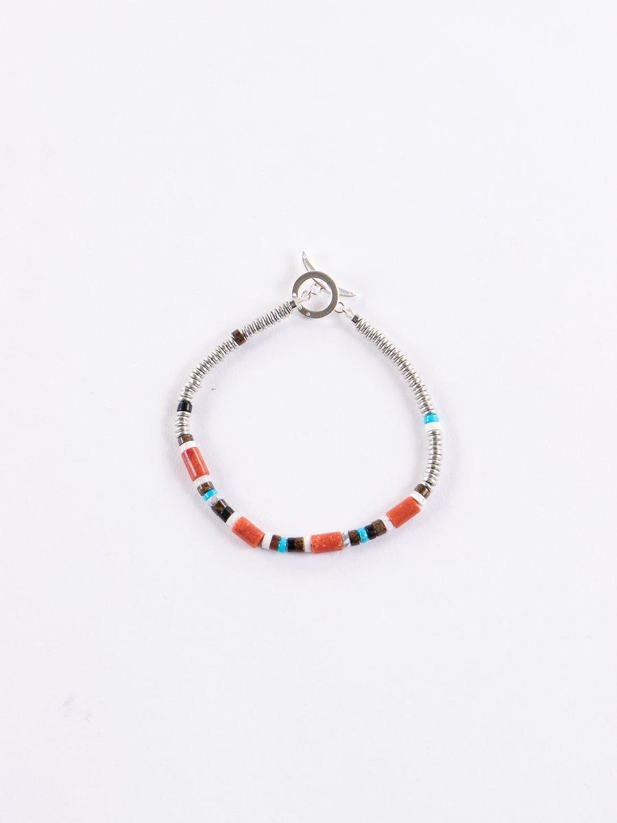 Coral Tube Beads Bracelet