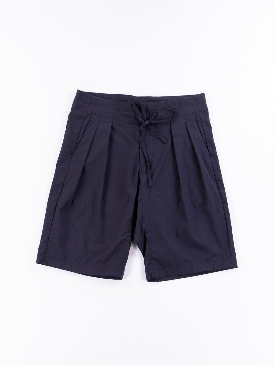 Navy Oxford Vancloth Drop Crotch Shorts