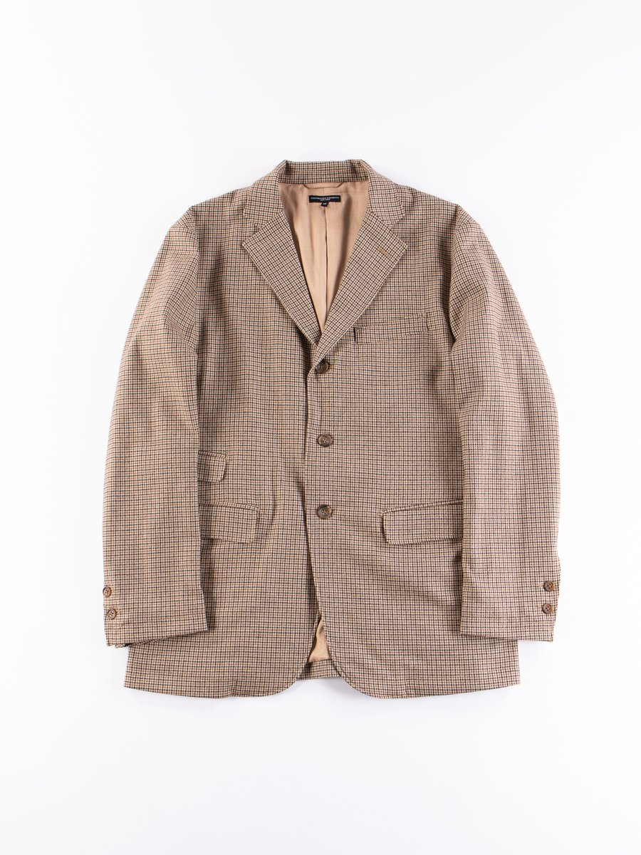 Brown Wool Poly Gunclub Check Lawrence Jacket