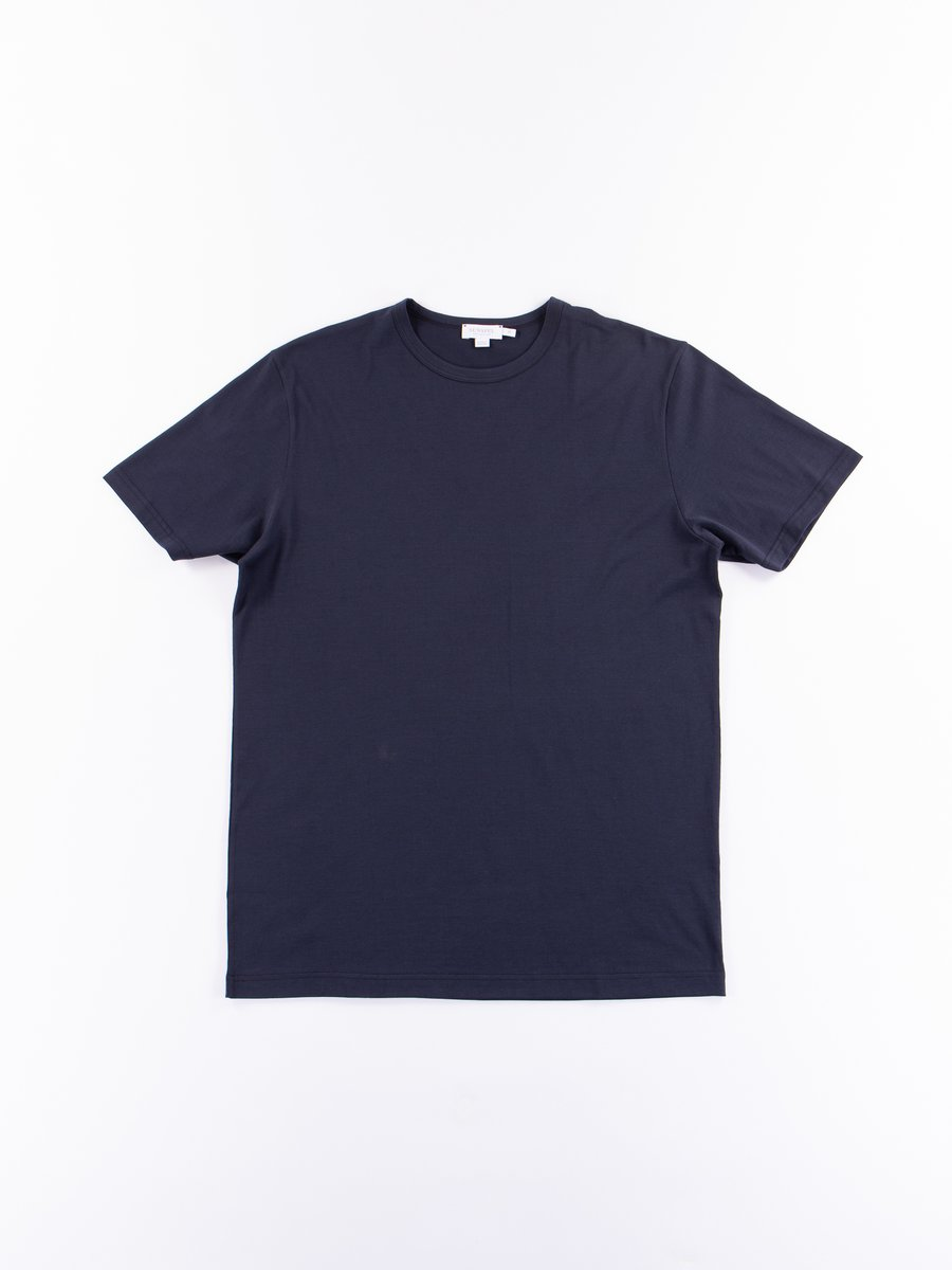 Navy Short Sleeve Classic Crew Neck T–Shirt