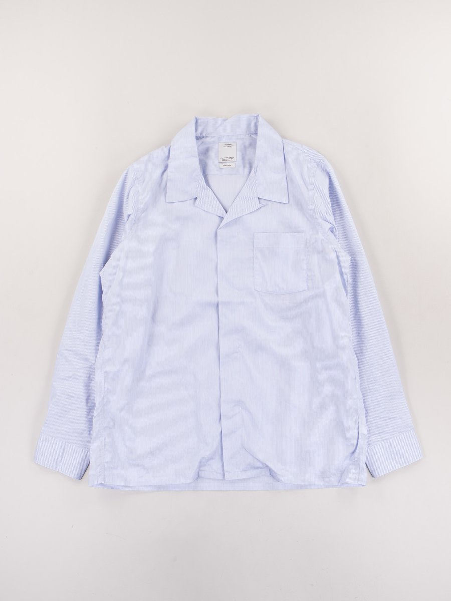 Blue Pattern Free Edge Shirt