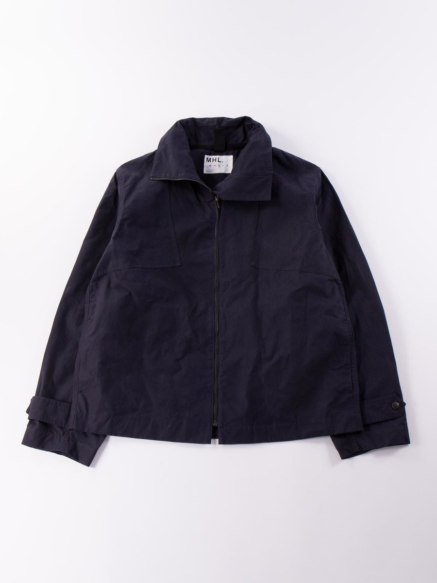 MHL WASHED WAX RESCUE JACKET DARK NAVY