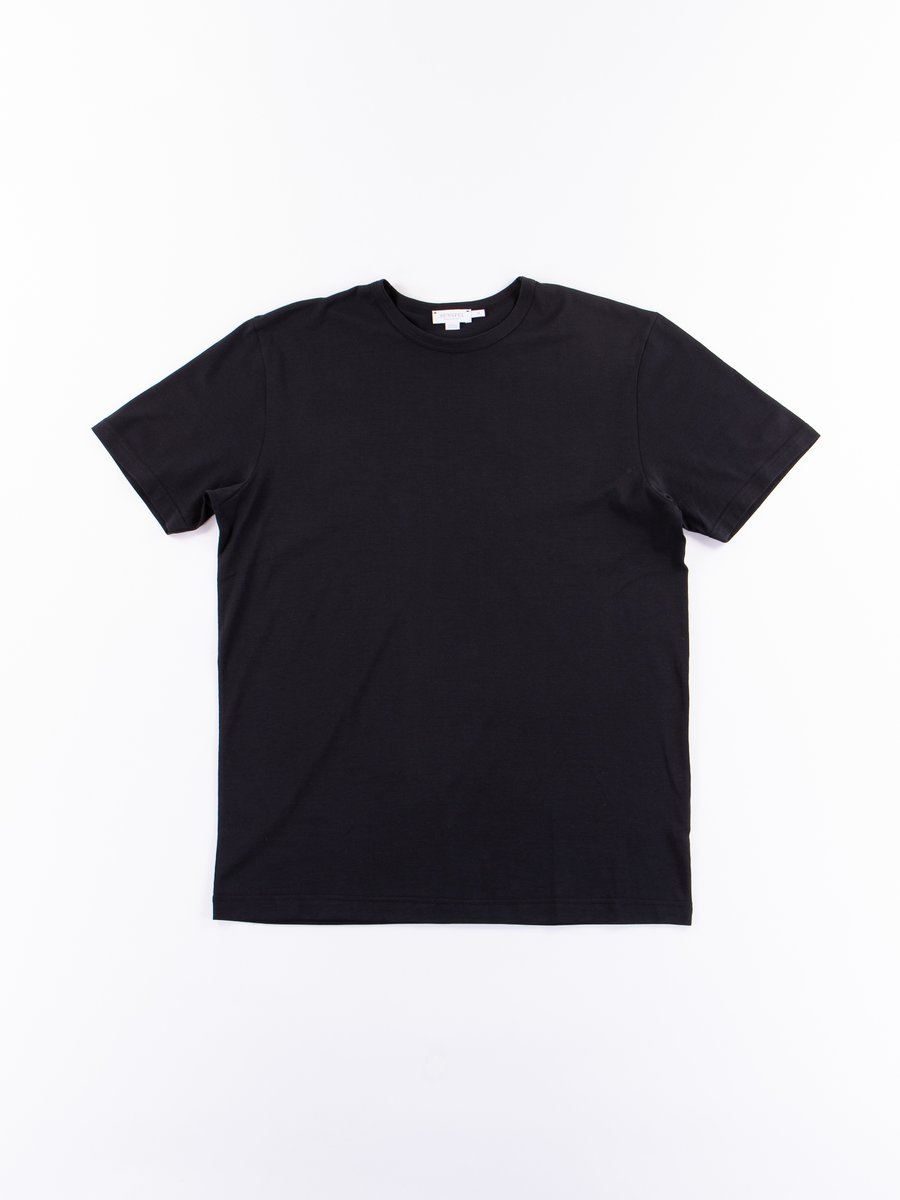 Black Short Sleeve Classic Crew Neck T–Shirt