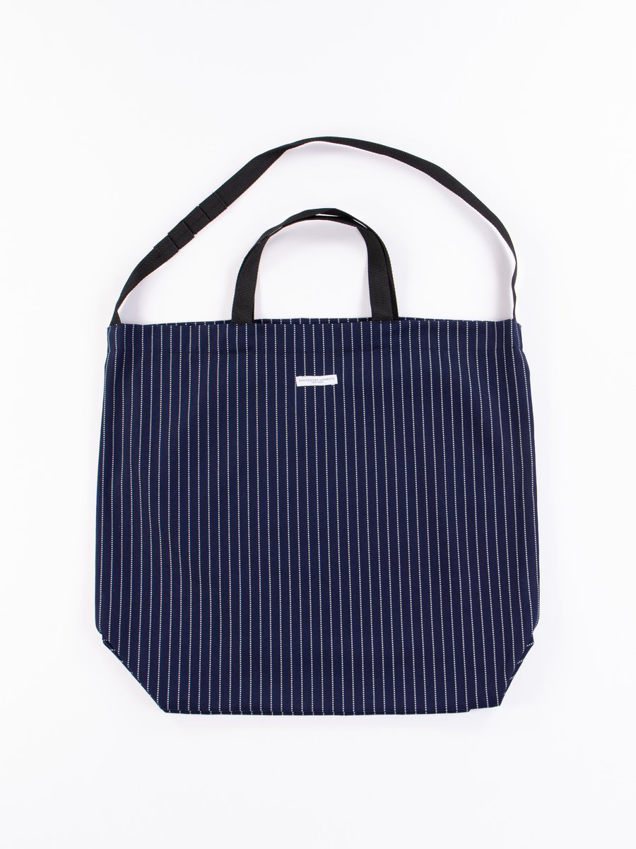 Indigo Cotton Wabash Stripe Carry All Tote