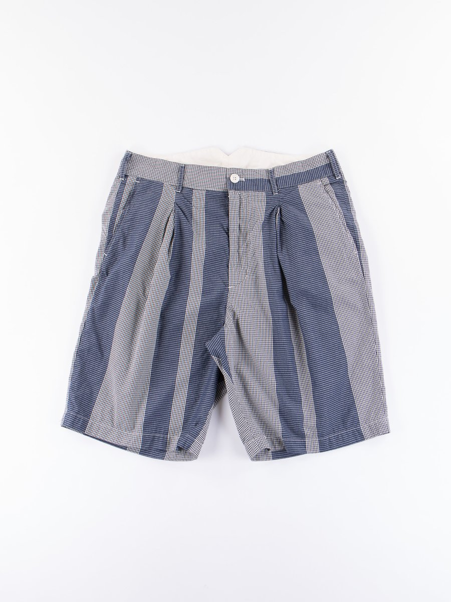 Dark Navy/Grey Mini Gingham Big Stripe WP Short