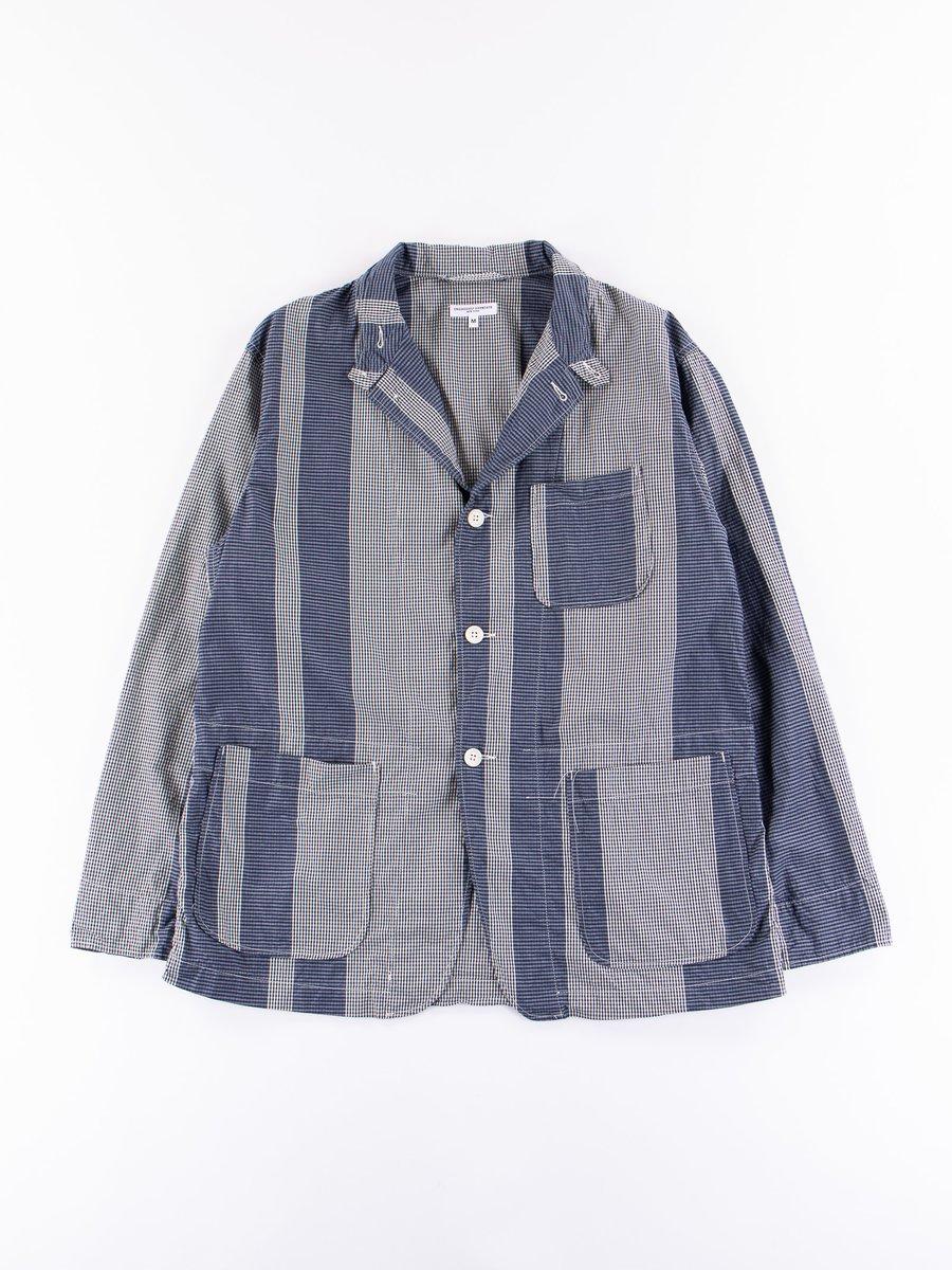 Dark Navy/Grey Mini Gingham Big Stripe Loiter Jacket