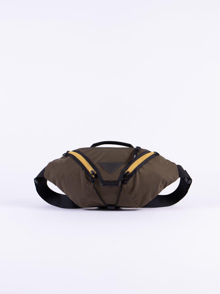 Khaki Delta Waist Bag