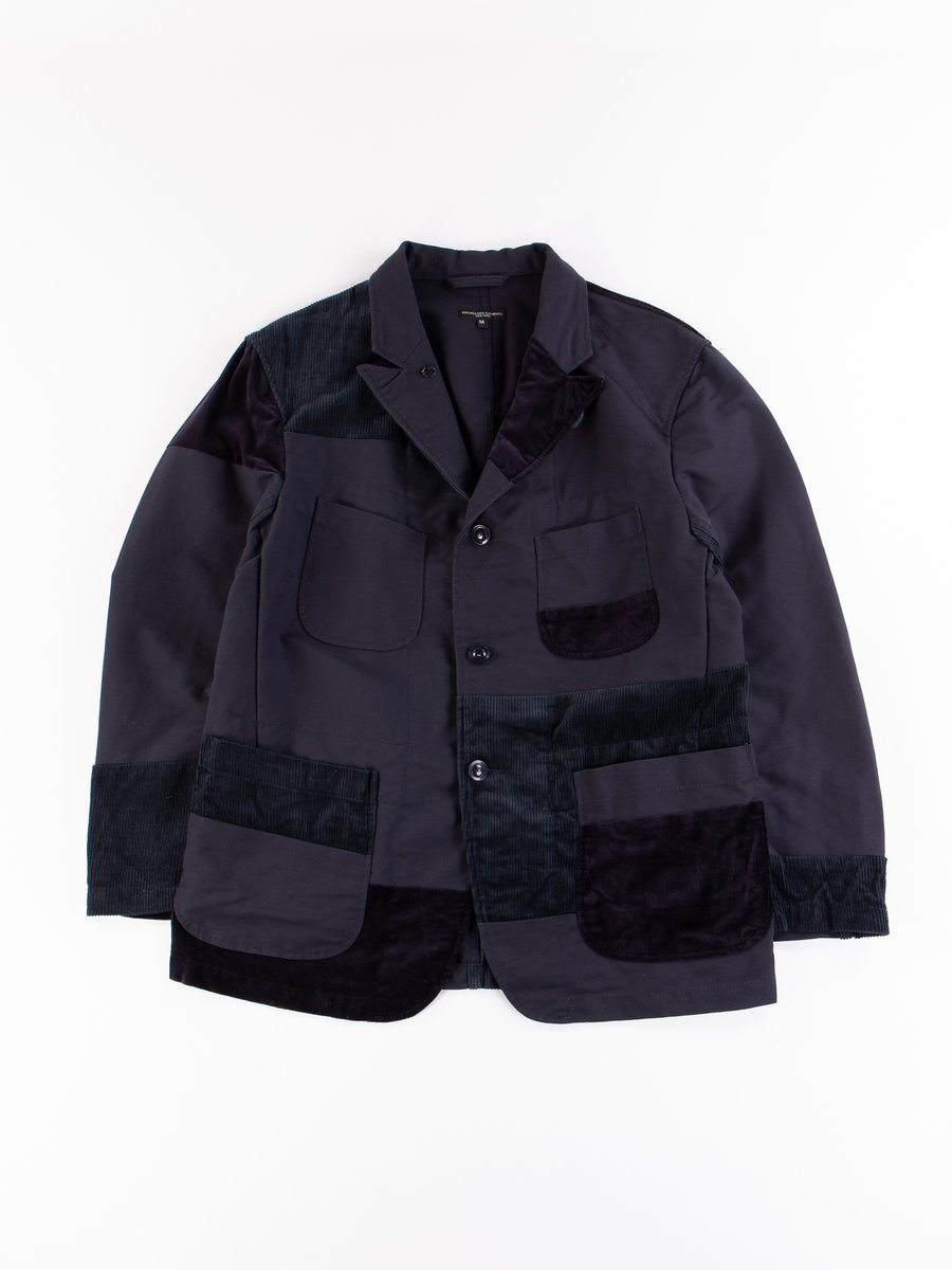 Navy Cotton Double Cloth Bedford Jacket