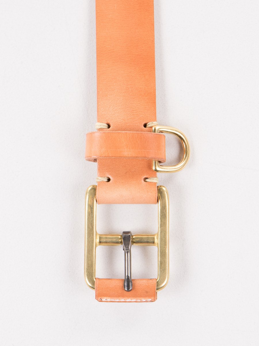 Russet Stitched D–Ring Belt