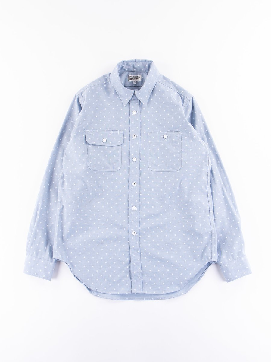 Light Blue Star Chambray Utility Shirt