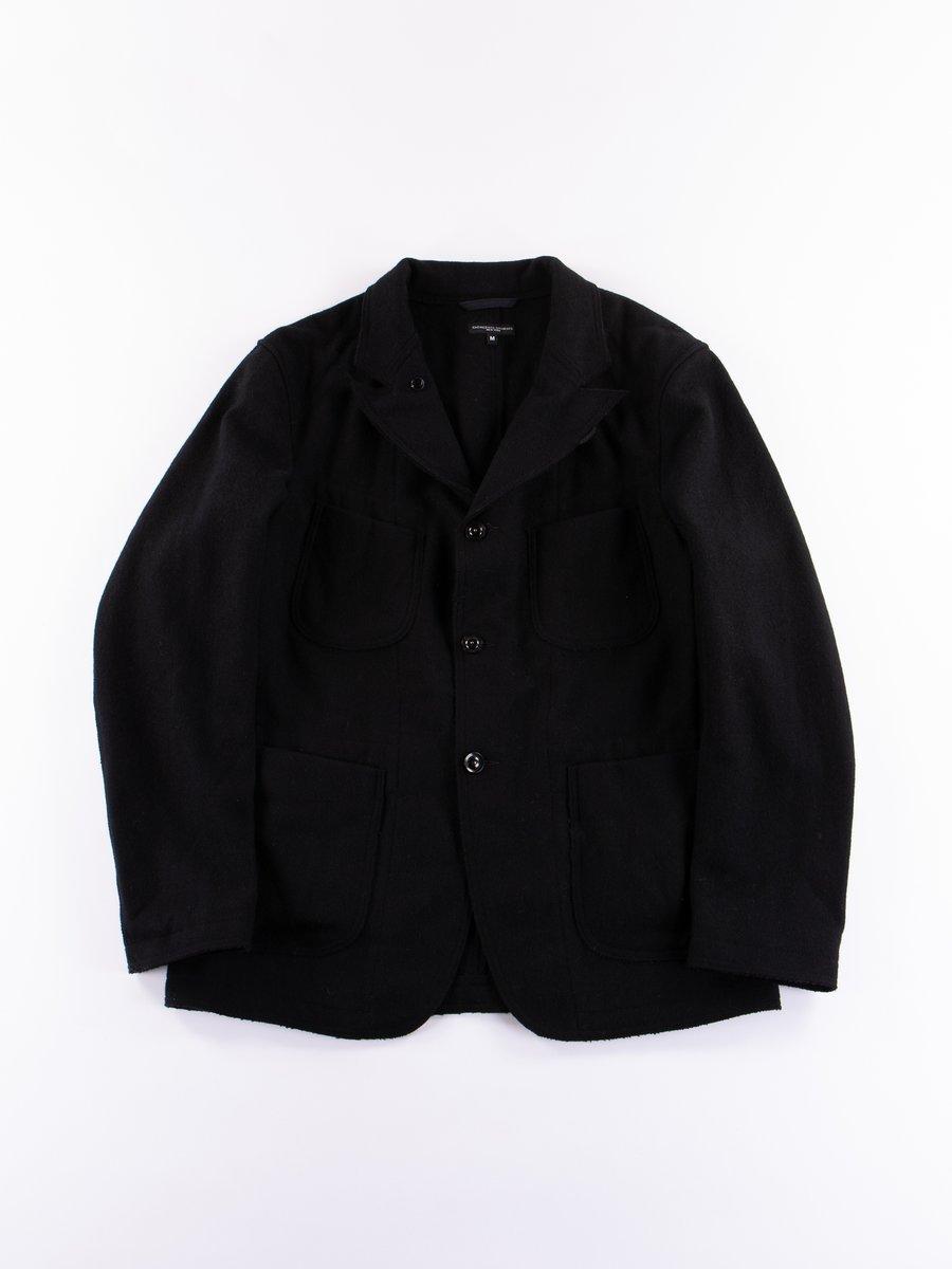 Black Wool Melton RE Bedford Jacket