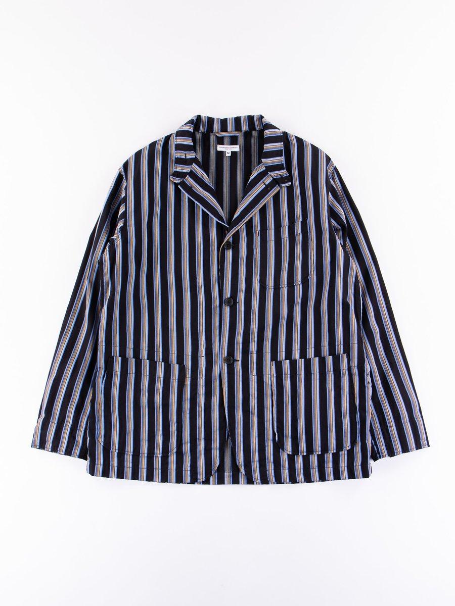 Black/Blue Regent Stripe Loiter Jacket
