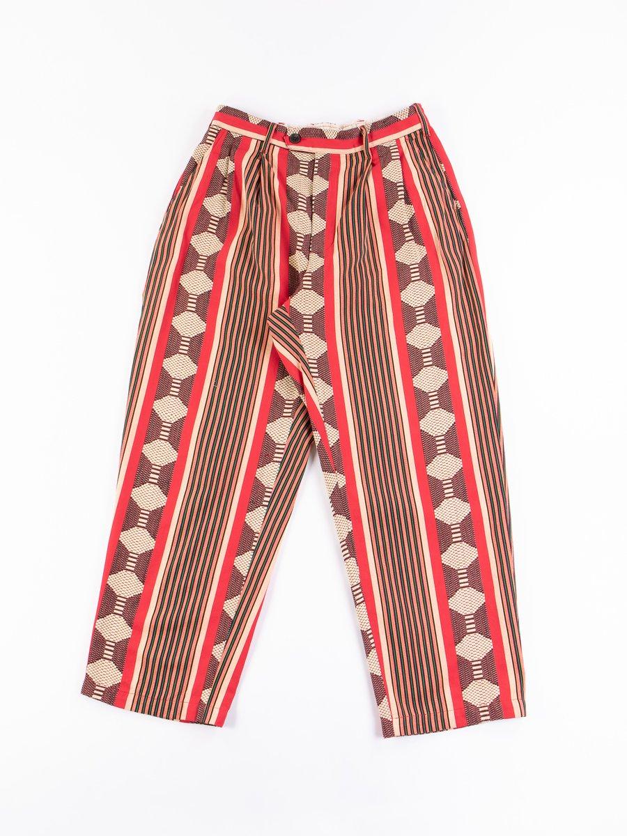 Red Ethnic Jacquard Stripe Emerson Pant