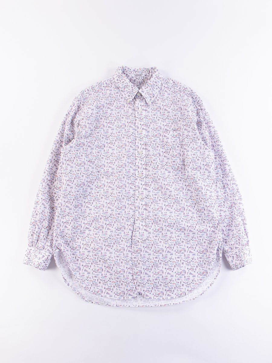 Multi Beach Print 19th Century BD Shirt