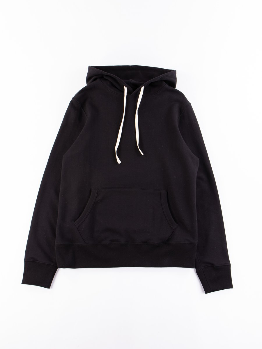 Deep Black 382 Organic Cotton Hooded Sweatshirt