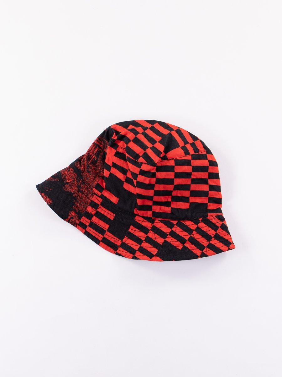 Red/Black Noma t.d. Print Bucket Hat