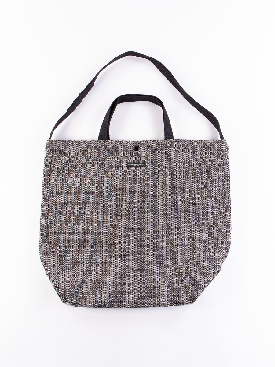 Grey/Black PC Faux Tweed Carry All Tote