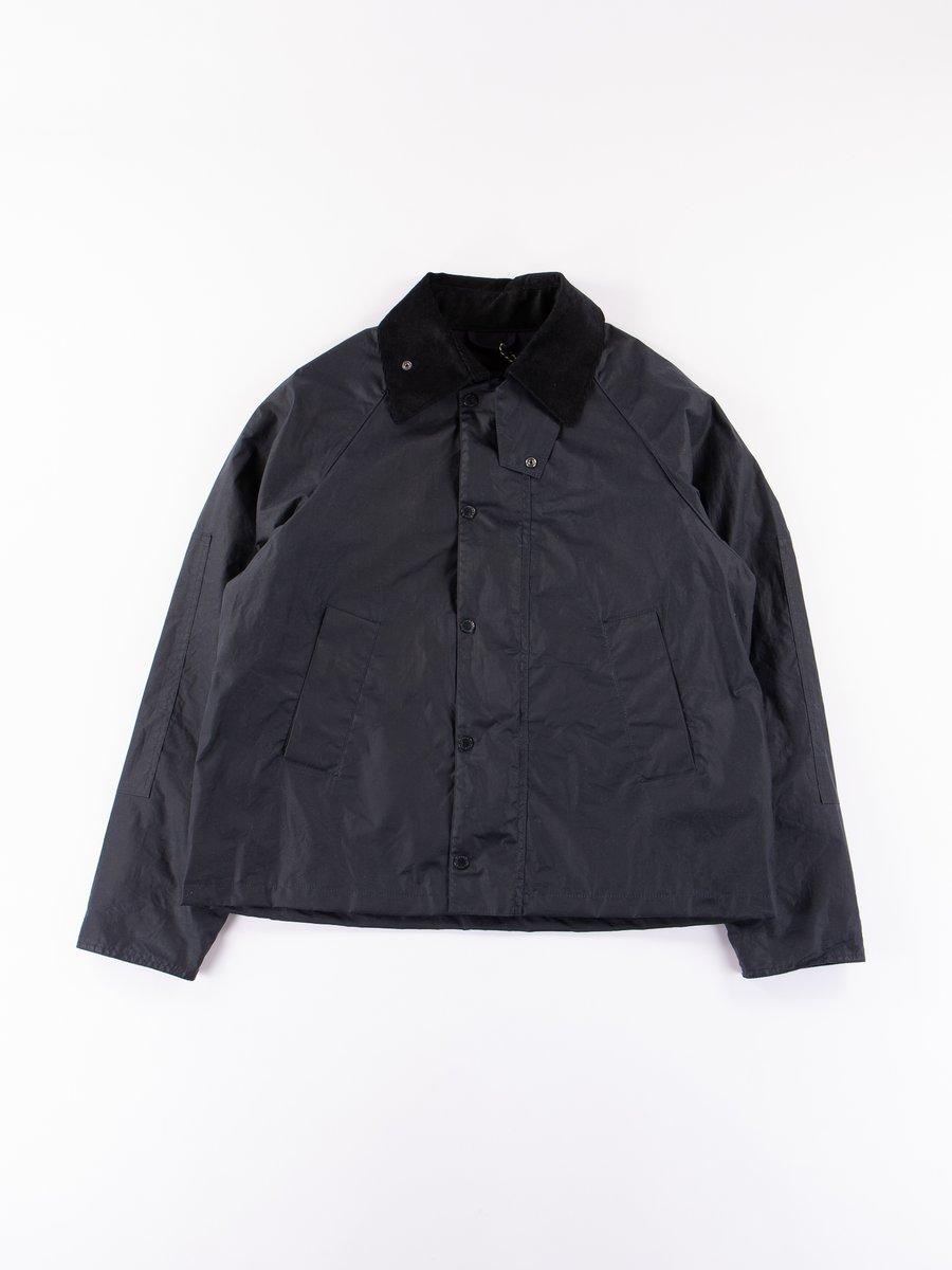 Navy Graham Wax Jacket