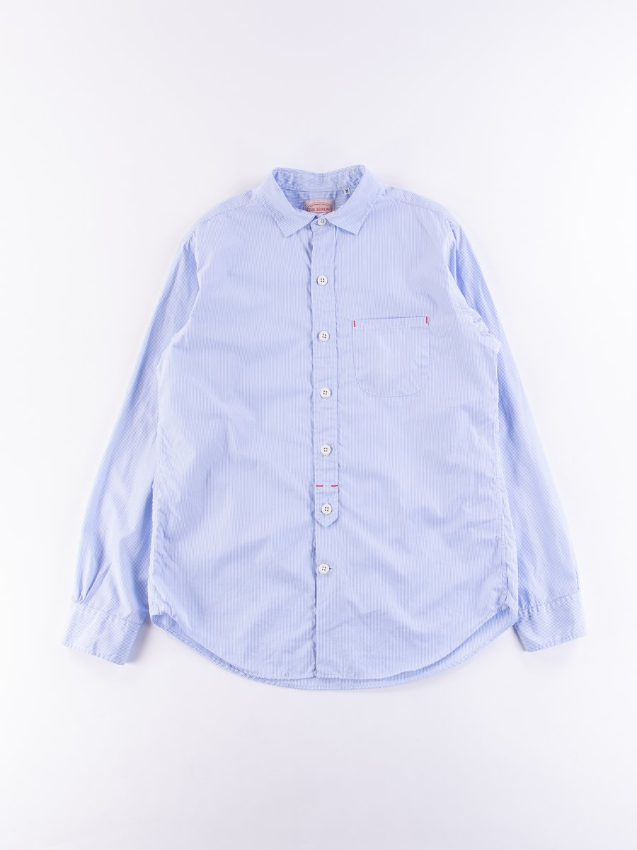Blue/White Stripe Broadcloth Standard Shirt