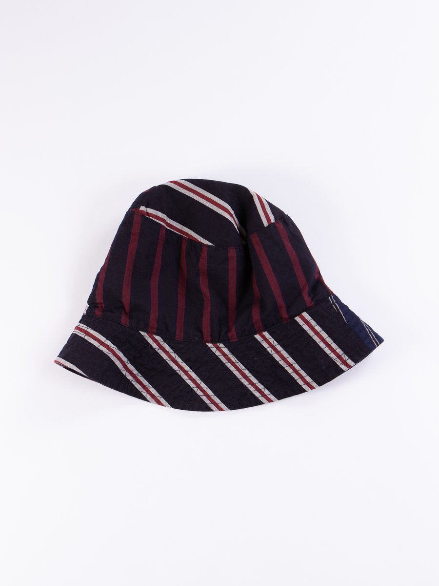 Navy/Red/White Regimental Stripe Bucket Hat