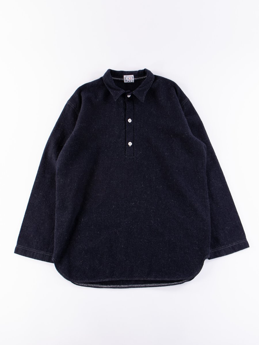 Navy Weavers Stock Pullover Tail Shirt