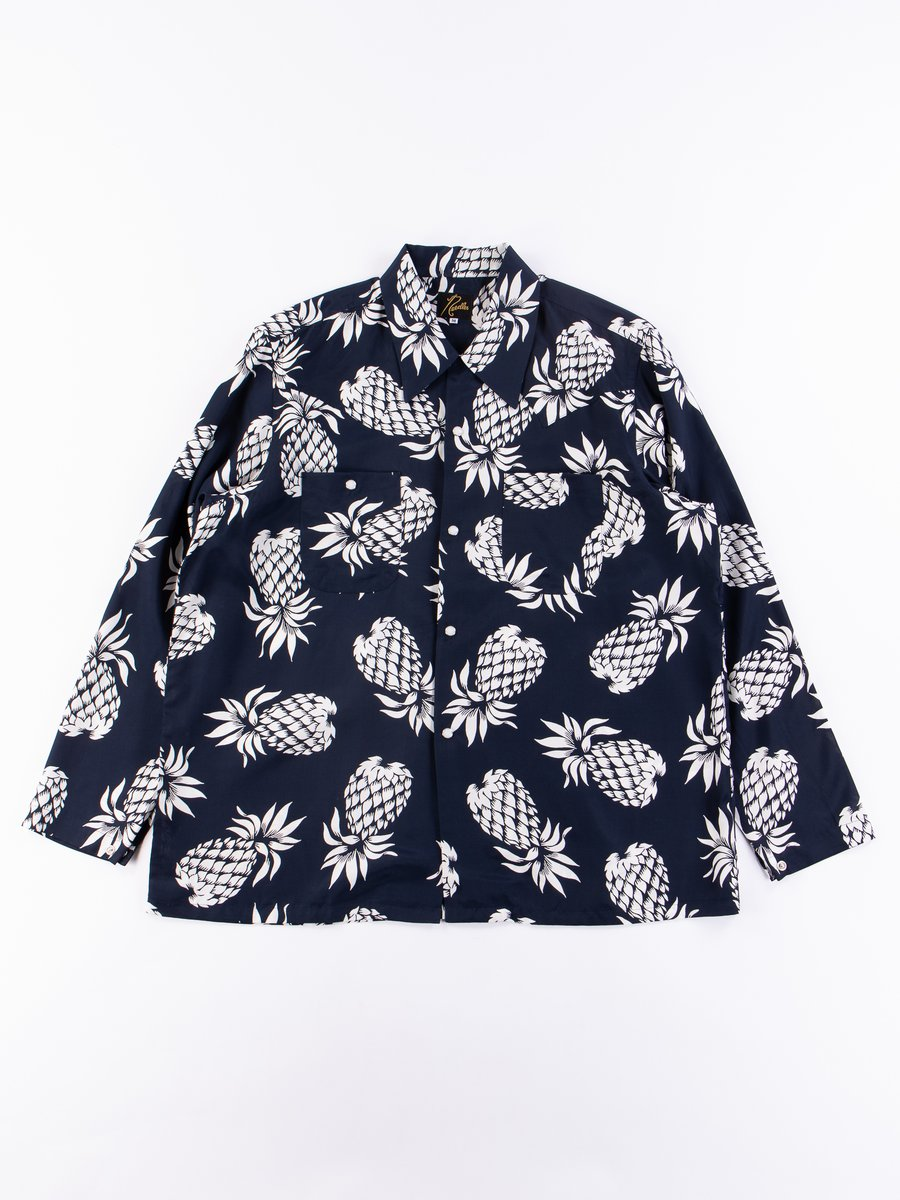 Navy/Pineapple One–Up Cowboy Shirt