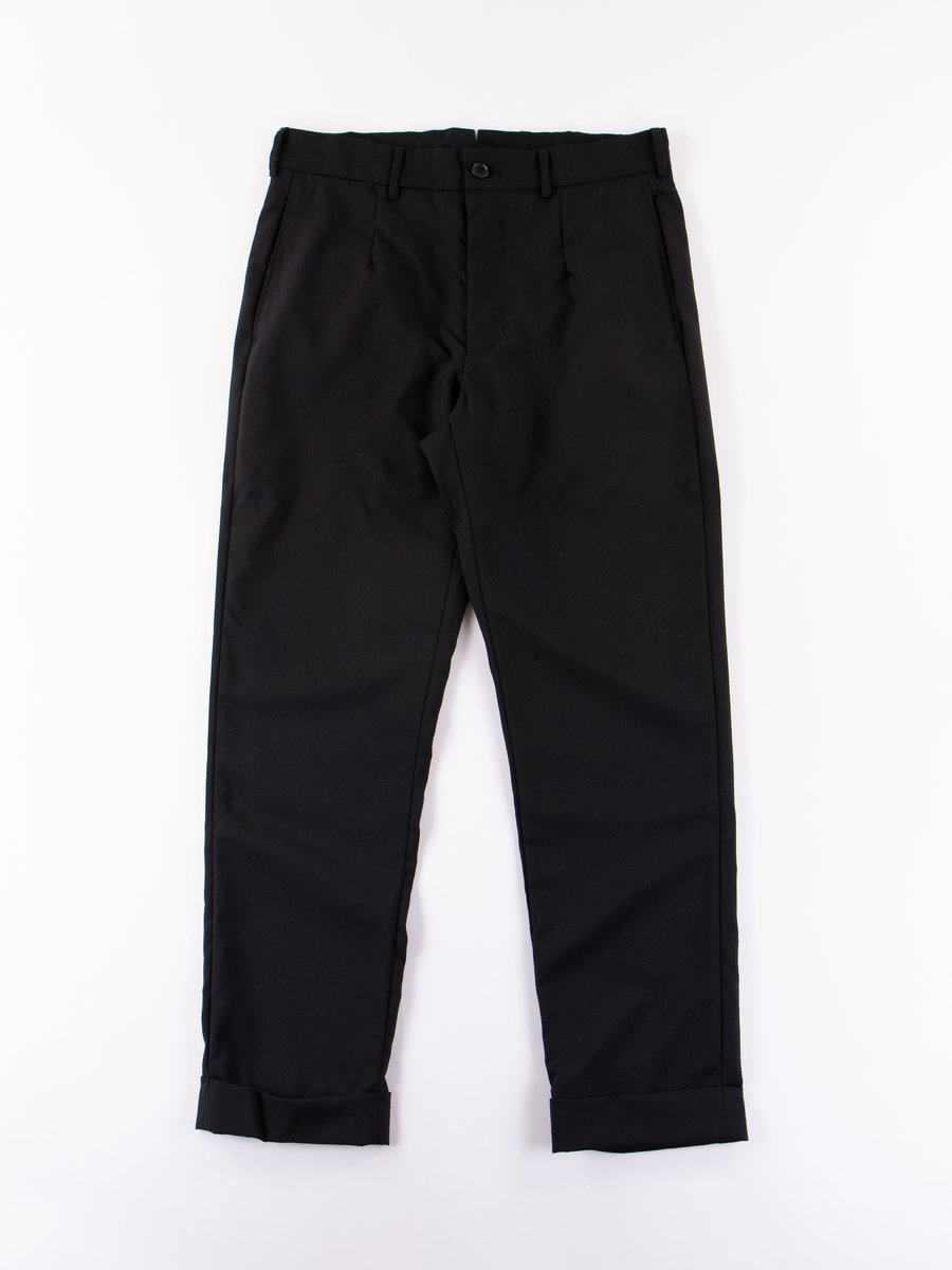 Black Wool Tuxedo Andover Pant