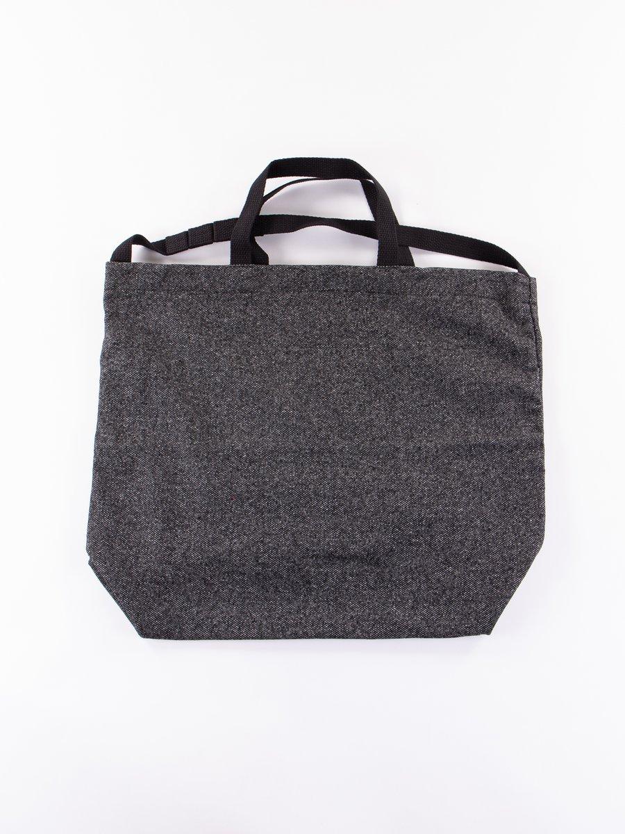 Grey Wool Homespun Carry All Tote