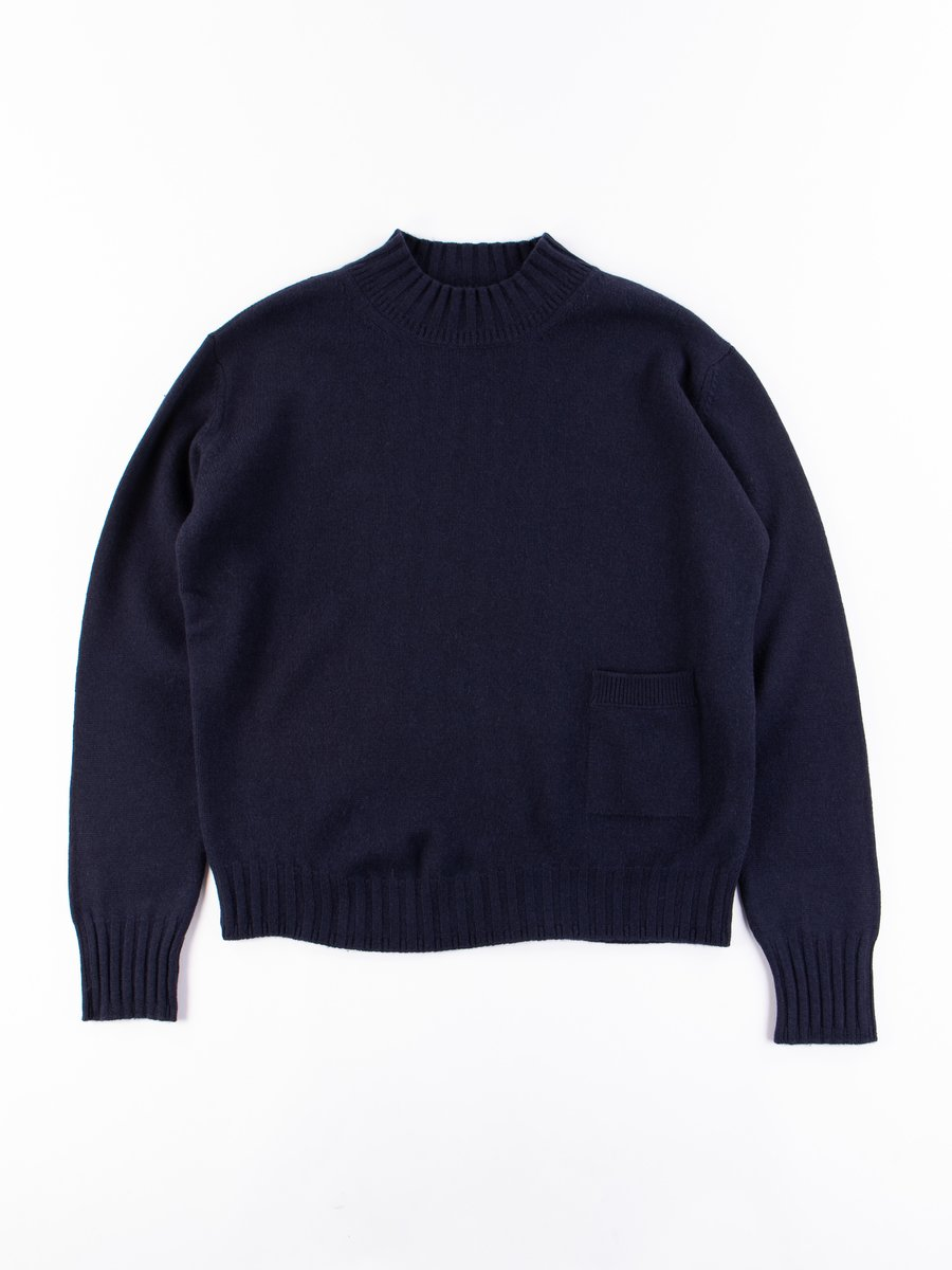 Ink Soft Merino Single Pocket Sweater