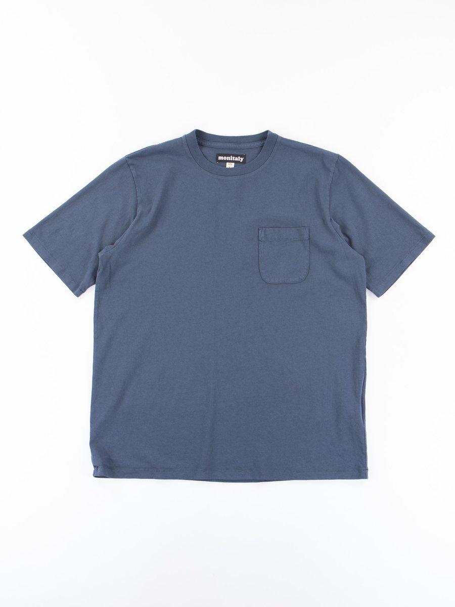 Indigo Blue S/S Pocket Tee