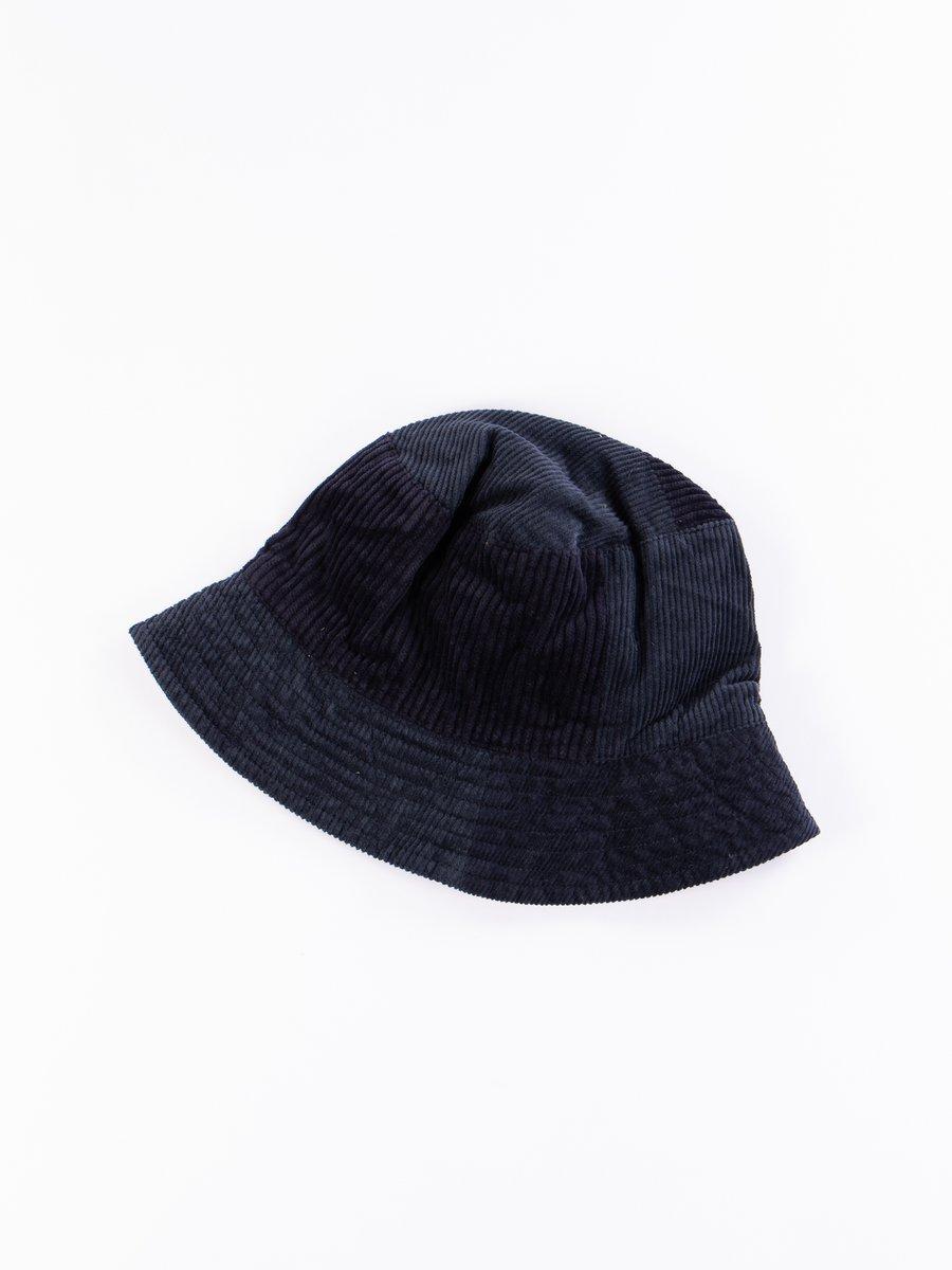 Navy Cotton 8W Corduroy Bucket Hat