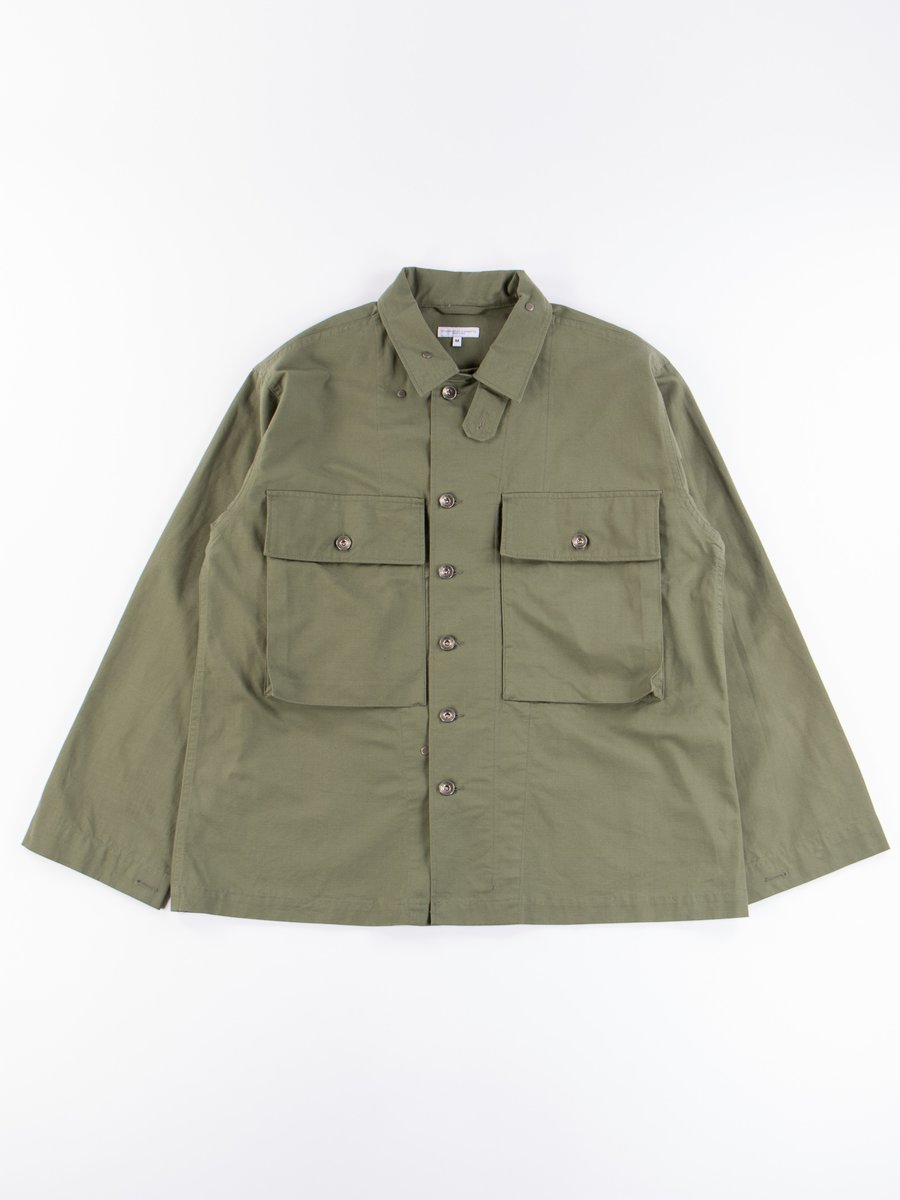Olive Cotton Ripstop M43/2 Shirt Jacket