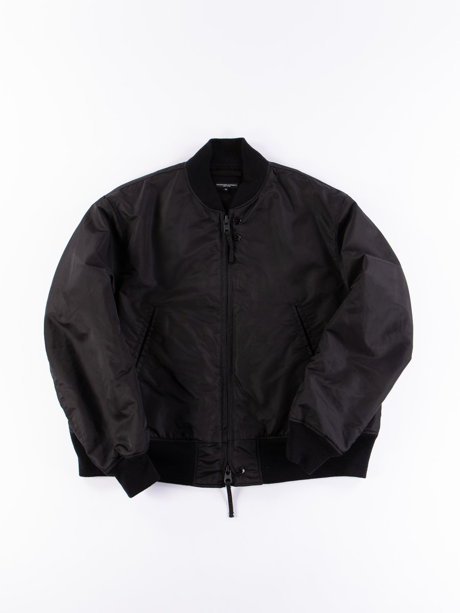 Black Flight Satin Nylon SVR Jacket