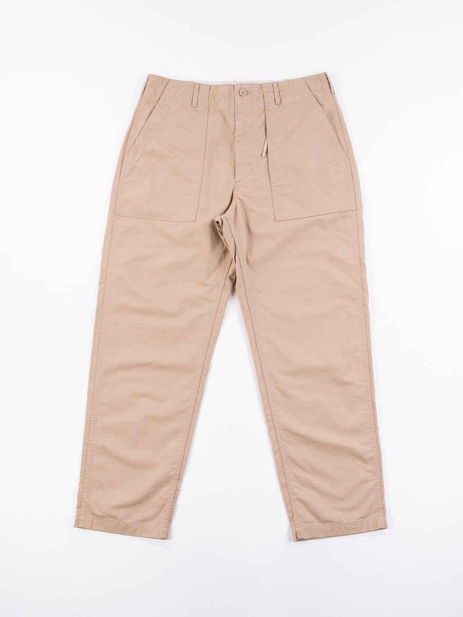 Khaki Cotton Ripstop Fatigue Pant