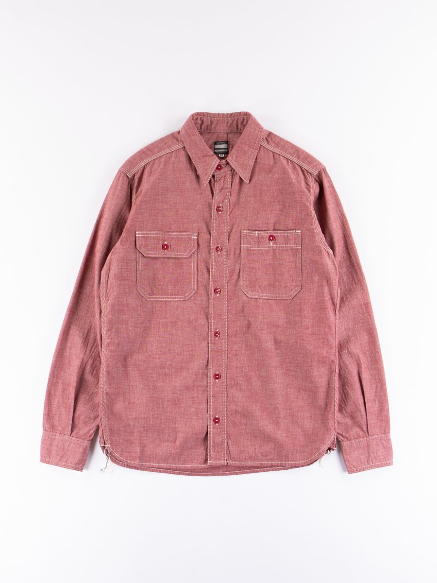 Red 5oz Selvedge Chambray Shirt