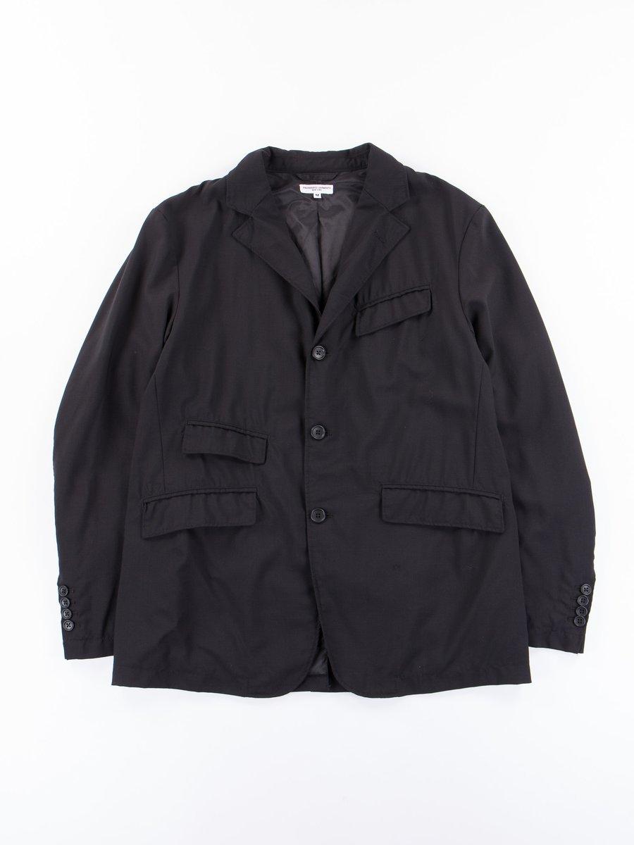 Black Tropical Wool Cordura Andover Jacket