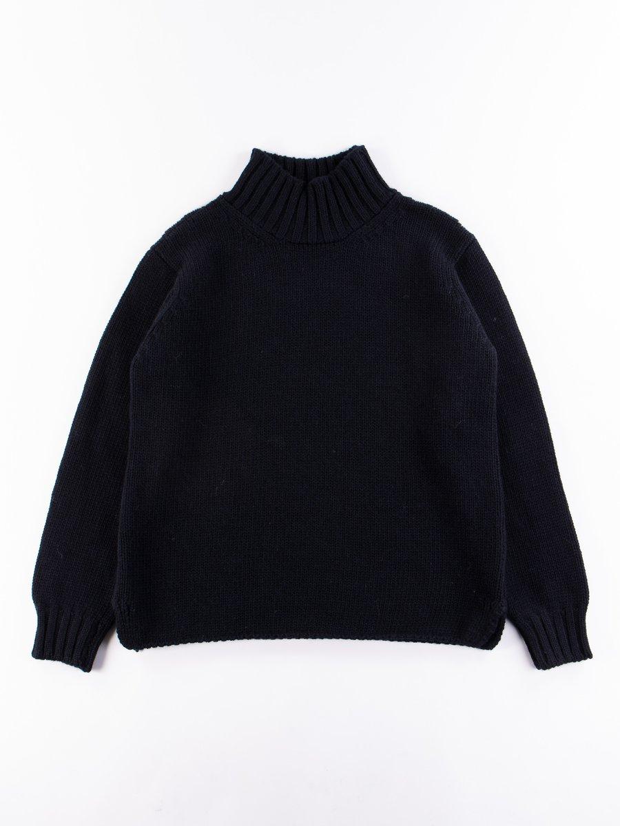 MHL Ink British Wool Wide Neck Sweater