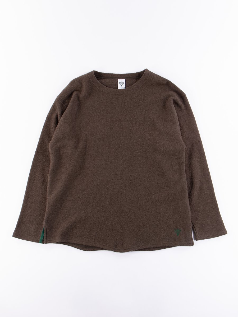 Olive Silver Knit Crew Neck Shirt