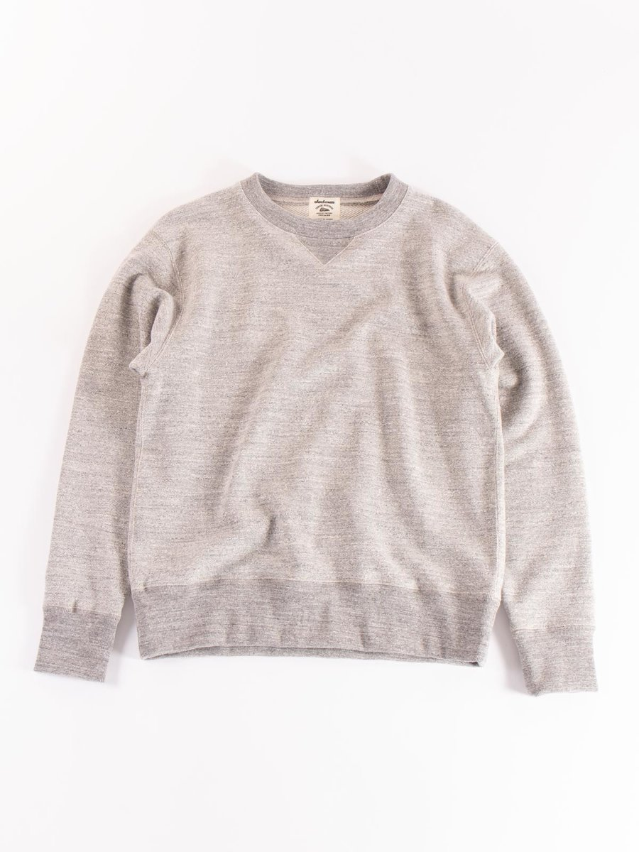 GG CREW–NECK SWEAT HEATHER GREY