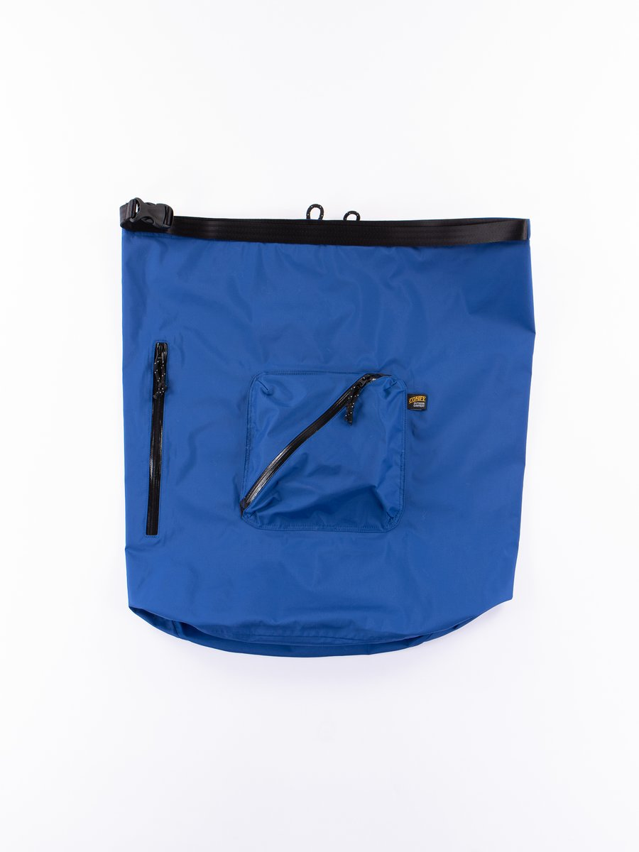 Blue Roll Nylon Shoulder Bag